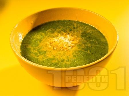 Супа от миди, картофи и сирене чедър - снимка на рецептата